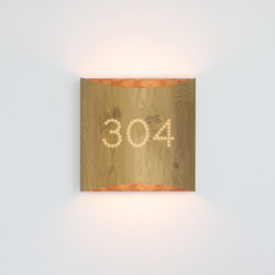 Sophie wall oak copper with number | Lampade parete | lasfera