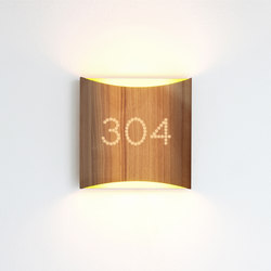 Sophie wall walnut yellow with number | Wall lights | lasfera
