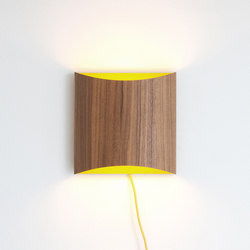 Sophie wall walnut yellow with cable | General lighting | lasfera