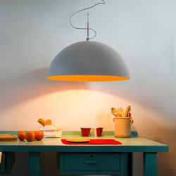 Mezza Luna cemento pendant | Suspended lights | IN-ES.ARTDESIGN