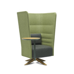 Cell 128 high-back swivel armchair | Lounge-work seating | sitland