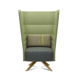 Cell 128 high-back armchair with 4-spoke base | Privacy furniture | sitland