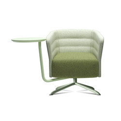 Cell 72 swivel armchair with 4-spoke base | Lounge-work seating | sitland