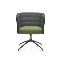 Cell 75 swivel upholstered easy chair with armrests | Lounge chairs | SitLand