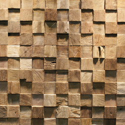 SQUARE | Holz Platten | Teak Your Wall