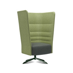 Cell 128 swivel high-back armchair with 4-spoke base | Armchairs | sitland