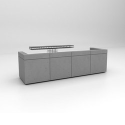 Lintel Reception Desk Configuration 3 | Comptoirs | Isomi