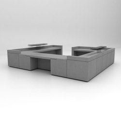 Lintel Reception Desk Configuration 9 | Comptoirs | Isomi
