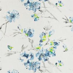 Shanghai Garden Fabrics | Oriental Flower - Indigo | Curtain fabrics | Designers Guild