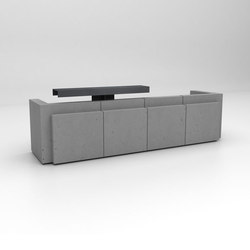 Volume Reception Desk Configuration 4 | Comptoirs | Isomi