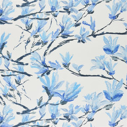 Shanghai Garden Fabrics | Shangri-La - Cobalt | Tejidos para cortinas | Designers Guild