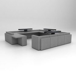 Volume Reception Desk Configuration 10 | Comptoirs | Isomi