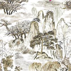 Shanghai Garden Fabrics | Jade Temple - Ecru | Curtain fabrics | Designers Guild