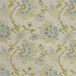 St. James's Fabrics | Court Flower - Lapis | Curtain fabrics | Designers Guild