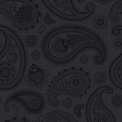 Paisley Black | PA4080B | Tiles | Ornamenta