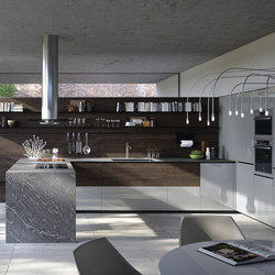 Forma Mentis | Rondover Oak Wooden Door | Fitted kitchens | Valcucine