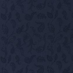 Signature Artiste de la Mer Fabrics | Opal Coast Embroidery - Navy | Tejidos para cortinas | Designers Guild
