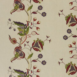 Signature Ashdown Manor Fabrics | Ashdown Embroidery - Cobblestone | Curtain fabrics | Designers Guild