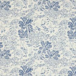 Signature Sur la Cote Fabrics | Homeport Scenic - Marine | Curtain fabrics | Designers Guild