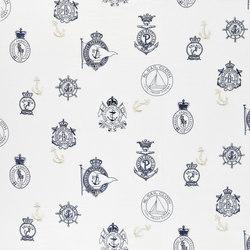 Signature Sur la Cote Fabrics | Rowthorne Embroidery - Navy | Vorhangstoffe | Designers Guild
