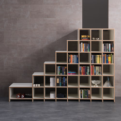 Classic shelf-system | Wood stairs | mocoba