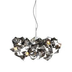 Fractal chandelier round | Ceiling suspended chandeliers | Brand van Egmond