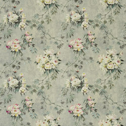 Caprifoglio Fabrics | Floreale - Zinc | Tessuti tende | Designers Guild