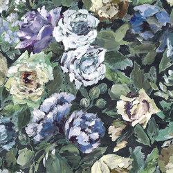 Caprifoglio Fabrics | Bloomsbury Rose - Indigo | Curtain fabrics | Designers Guild
