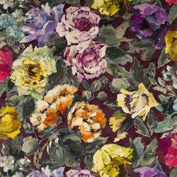 Caprifoglio Fabrics | Bloomsbury Rose - Damson | Tissus pour rideaux | Designers Guild