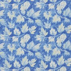 Caprifoglio Fabrics | Fresco Leaf - Indigo | Curtain fabrics | Designers Guild