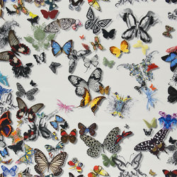 Carnets Andalous Fabrics | Butterfly Parade - Opalin | Vorhangstoffe | Designers Guild