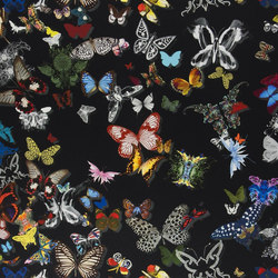 Carnets Andalous Fabrics | Butterfly Parade - Oscuro | Tessuti tende | Designers Guild