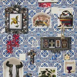 Carnets Andalous Fabrics | Patio - Cobalt | Curtain fabrics | Designers Guild