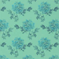 Kaori Fabrics | Hiyoku - Jade | Curtain fabrics | Designers Guild