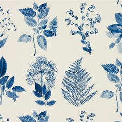 Kaori Fabrics | Jindai - Indigo | Tissus pour rideaux | Designers Guild