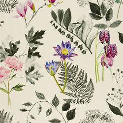 Kaori Fabrics | Mokuren - Graphite | Curtain fabrics | Designers Guild