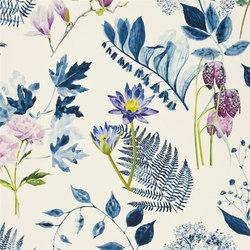 Kaori Fabrics | Mokuren - Indigo | Curtain fabrics | Designers Guild