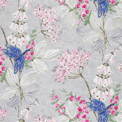Kimono Blossom Fabrics | Kimono Blossom - Heather | Curtain fabrics | Designers Guild