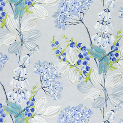 Kimono Blossom Fabrics | Kimono Blossom - Delft | Curtain fabrics | Designers Guild