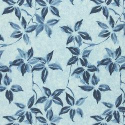 Kimono Blossom Fabrics   Hayashi - Indigo   Curtain fabrics   Designers Guild