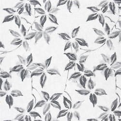 Kimono Blossom Fabrics | Hayashi - Graphite | Curtain fabrics | Designers Guild