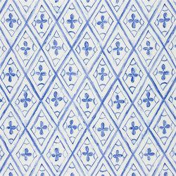 Kimono Blossom Fabrics | Tasuki - Cobalt | Vorhangstoffe | Designers Guild
