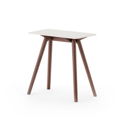 Nadia Side Table Rectangular White | Mesas auxiliares | Meetee