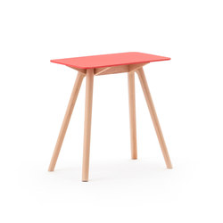 Nadia Side Table Rectangular Red | Tables d'appoint | Meetee