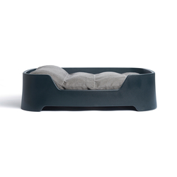 Dog's Palace Large Dark Grey with dark taupe cushion | Accessoires d'habitat / de bureau | Wildspirit
