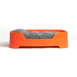 Dog's Palace Large Orange with dark taupe cushion | Dog beds | Wildspirit