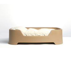 Dog's Palace Large Tobacco with papyrus cushion | Accessoires d'habitat / de bureau | Wildspirit