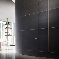 Alba | Filo 10 Hinged Door | Internal doors | Linvisibile & INTERNAL DOORS LEATHER CLAD DOORS - High quality designer INTERNAL ...