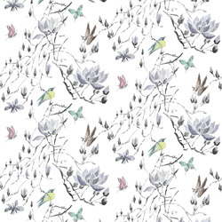 Orangerie Fabrics | Madame Butterfly Ii - Delft | Tissus pour rideaux | Designers Guild