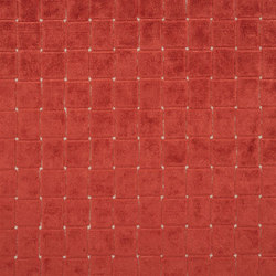Pugin Weaves | Leighton - Scarlet | Tessuti tende | Designers Guild